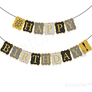 amazon com vintage happy birthday banner decorations classy black