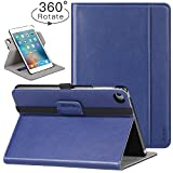 Ztotop iPad Mini 4 Swivel Case - [360 Rotating] Genuine Leather Folio Stand Case Cover with Multi-Angle Viewing - Pocket - Auto Wake Sleep for iPad Mini 4 - Navy Blue