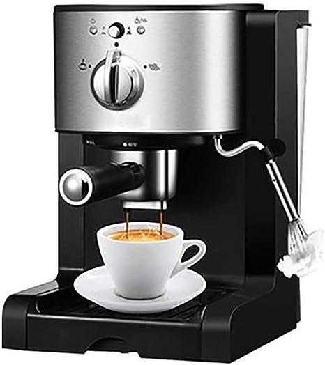 RUIXFCA Cafetera Espresso, capuccinatore, Depósito de 1,5l, 20 Bares,Brazo Doble Salida, Vaporizador Orientable, 1350W, Color Acero y Negro: Amazon.es: Deportes y aire libre