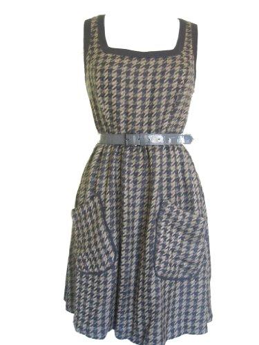 JESSICA SIMPSON Women's Sleeveless Dress-WINTER WHEAT/MULTI-8