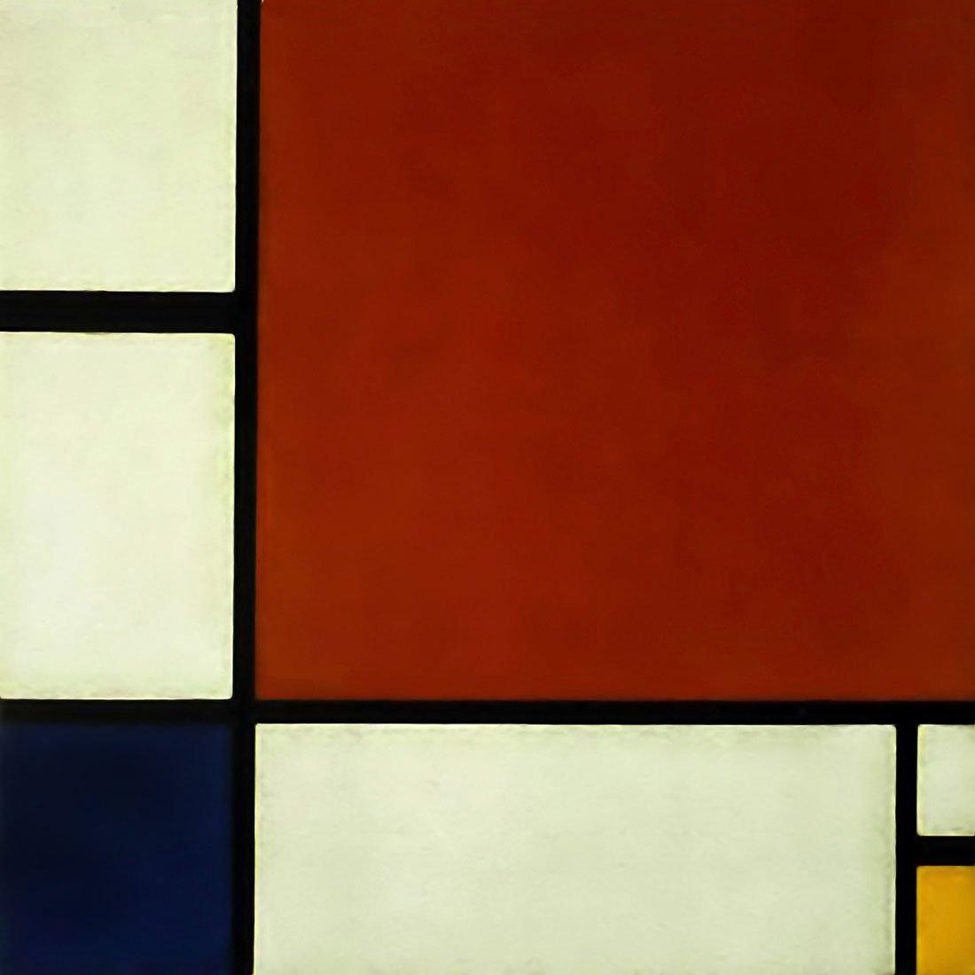 コンポジションII - Mondrian – キャンバスまたは壁アートプリント Fine Paper - 20 x 20 Fine Paper - 20 x 20  B008GWQAOY