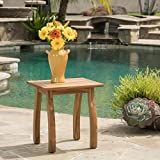 Wood Patio Table Great Deal Furniture Sadie Outdoor Accent Side Table | Acacia Wood