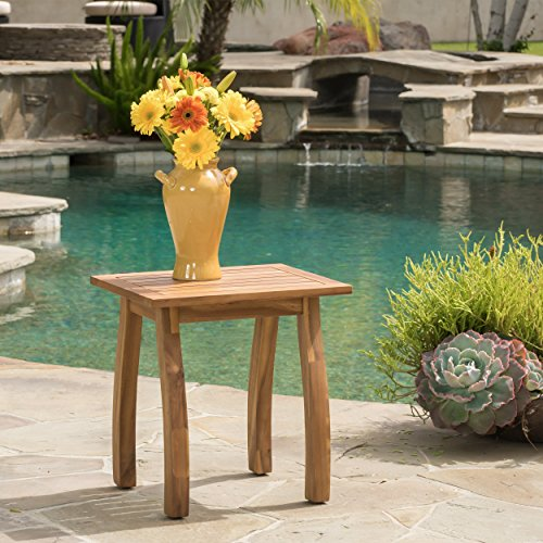Cheap  Great Deal Furniture Sadie Outdoor Accent Side Table | Acacia Wood