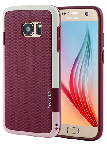Galaxy S7 Case,CLONG Ultra Impact 3 Color Shockproof Bumper Shock-Absorption Anti-Scratch Protective Case Flexible Durable Slim Hybrid TPU & PC Cover for Samsung Galaxy S7 S VII G930 GS7(Wine Red)