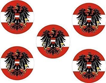 im Set Aufkleber 25mm Durchmesser Kaiserreich Deutschland 5Stk