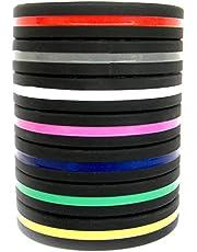 Solza Siliconen armbanden (set van 7) unisex perfect voor fitnesstraining, crossfit, voetbal, basketbal en sporttraining, dunne en lichte armband, hypoallergeen, latexvrij, BPA-vrij