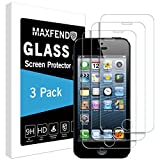 [1 PACK] Apple iPhone 5 / iPhone 5S / iPhone SE [Tempered Glass] Screen Protector, MAXFEND [Anti-Scratch] [Anti-Fingerprint] [Bubble Free] with Lifetime Replacement Warranty