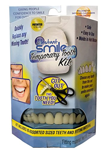 Instant Smile Temporary Tooth Kit - 3 Shades Included (Bright, Natural, Dark) - Does Not Stain and PATENTED!! ()