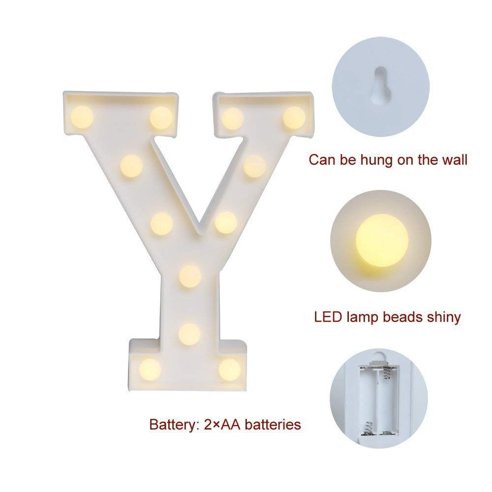 R Do4U LED Alphabet Letters Name Light up for Birthday Wedding Party Bar Bedroom Wall Hanging Home Decor