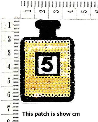 Perfume Bottle Fish 5 Cartoon Chidren Kids Embroidren Iron Patch/Logo Sew On Patch Clothes Bag T-Shirt Jeans Biker Badge Applique