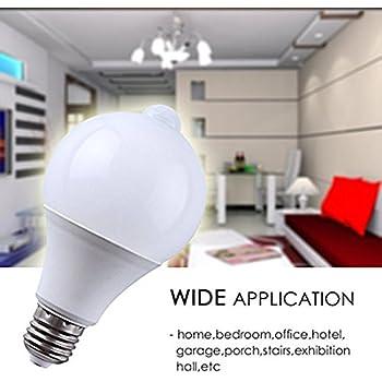 Motion Sensor Bulb Led E27 Pir Infrared Dusk To Dawn Led