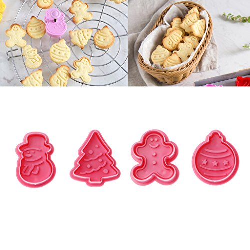 YDZN Christmas Cookies Cutter Fondant Cake Baking Mold Set Xmas Decorating Bakeware