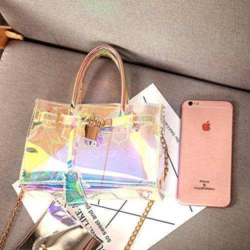 Transparent Small Crossbody Holographic Bag Chain Women Handbag Design Tote Marchome xgpwnBP5