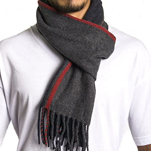 Marinos Winter Cashmere Feel Unisex Men And Women Scarf Teal In Elegant Gift Box 100/% Cotton Fashion Scarves