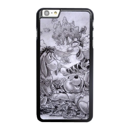 Coque,Coque iphone 6 6S 4.7 pouce Case Coque, Cute Winnie The Pooh Cover For Coque iphone 6 6S 4.7 pouce Cell Phone Case Cover Noir