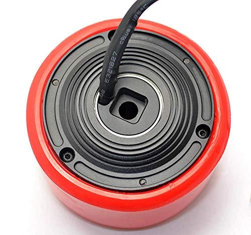 8352 83mm 24v-36v 260W Brushless Outrunner Motor Hallow Shaft Hub Motor PU Wheel with Hall Sensor for Longboard Mini Scooter DIY Electric ()