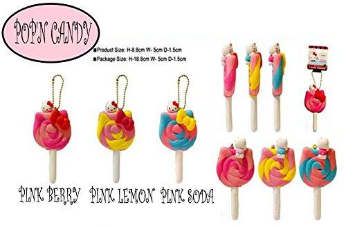 Sanrio Hello Kitty Lollipop-Pop-N-Soda squishy PINK BERRY Hello Kitty Lollipops