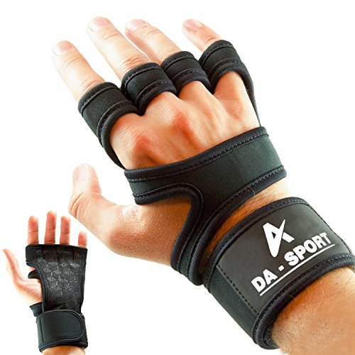 Cross Training Gloves with Wrist Support for WODs,Gym Workout,Weightlifting & Fitness-Silicone Padding, No Calluses-Suits Men & Women-Weight Lifting Gloves for a Strong Grip-by DongA sport