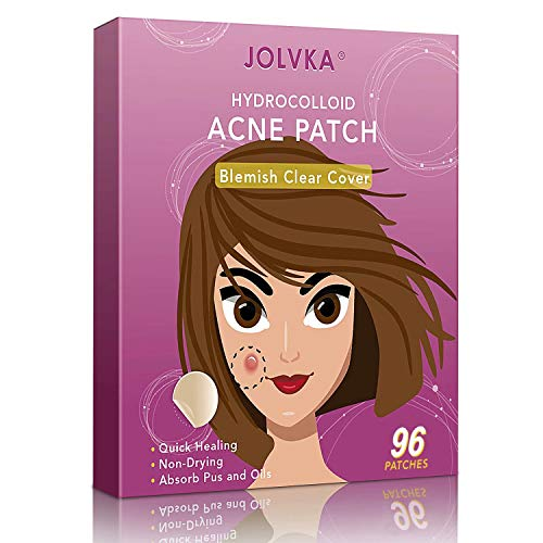 Acne Pimple Patch (96 Patches), Absorbing Hydrocolloid Spot Dots Treatment Master, Tea Tree Oil