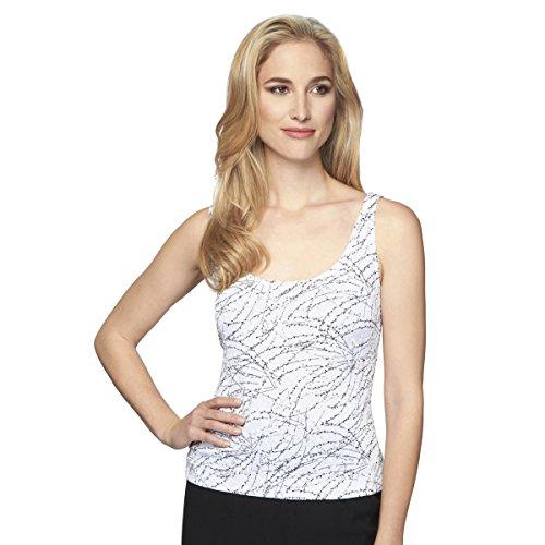 4211285 Floral White Evenings Alex Donna black Camicetta mNn0Ov8w