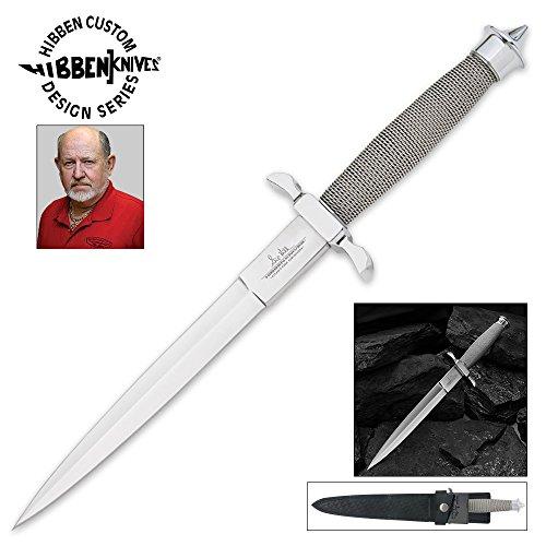 United Cutlery GH0441 Gil Hibben Silver Shadow Knife with Sheath (Dagger Shadow)
