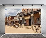 (US) Laeacco 7x5ft Photography Background Old Wild West Cowboy Town Saloon USA Vintage Saloon Central Arizona Background Party Decoration Birthday
