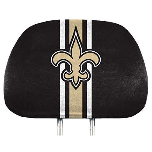 NFL New Orleans Saints Full-Print Head Rest Covers, 2-Pack