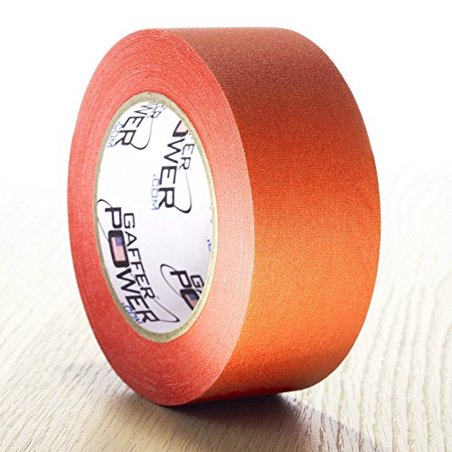 REAL Professional Grade Gaffer Tape by Gaffer Power - Made in the USA - ORANGE FLUORESCENT 2 In X 30 Yds UV Blacklight Reactive Fluorescent - Heavy Duty Gaffers Tape - Non-Reflective - Better than Duc
