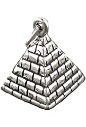 Sterling Silver Charm Pyramid 3d Comes with a Split Ring