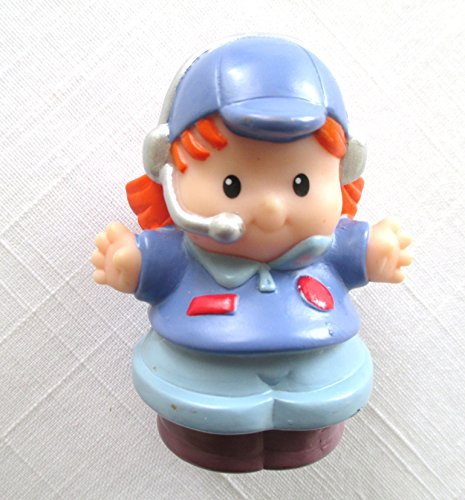Little People Airplane Pilot (2005) - Replacement Figure - Classic Fisher Price Collectible Figures - Loose Out Of Package & Print (OOP) - Zoo Circus Ark Pet Castle from Little People