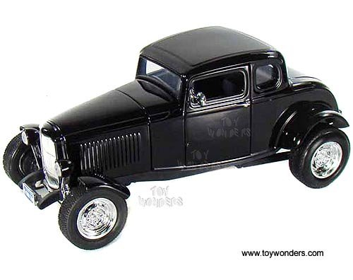 73171BK/4 Motormax Premium American - Ford Coupe Hard Top (1932, xh7x41ab 1/18 scale diecast model car, Black) 73171 diecast 7t4v908r car model 1932 Ford Coupe Hard Top 73171B