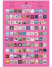 100 datums bucketlist, 100 dingen om te doen Dating Scratch Off Bucket List Poster Valentines Scratch Off afdrukken Poster Decor - perfecte verjaardagsgift voor paar