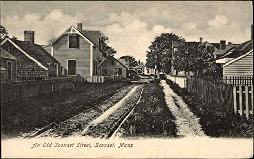 (An Old Sconset Street Siasconset, Massachusetts Original Vintage Postcard)