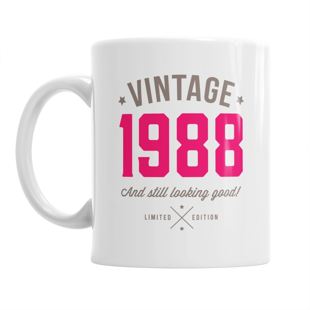 30th Birthday, 30th Birthday Gift, 30th Birthday Gifts For Men, 30th birthday gifts for women, 1988 Birthday, Vintage 1988, Coffee Mug (Blue) Design Invent Print!