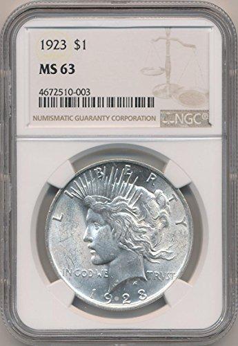 1923 P Peace Dollars MS63 NGC