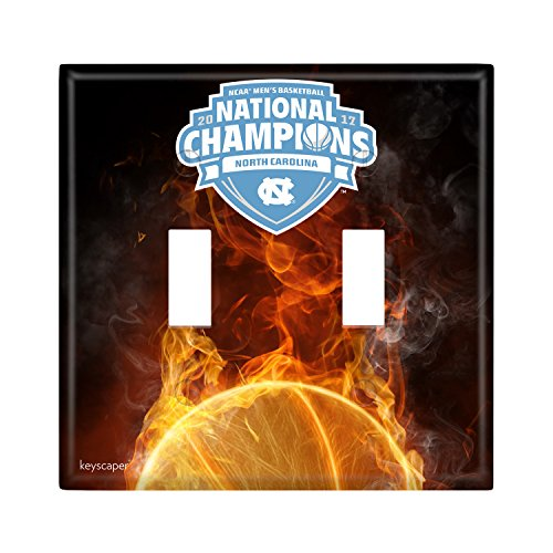 Bcs Champions Football - North Carolina Tar Heels 2017 NCAA Men's Basketball National Champions Double Toggle Light Switch Cover NCAA