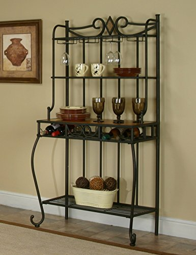 Sunset Trading Dart Bakers Rack (With Storage For Nook Breakfast Sale)