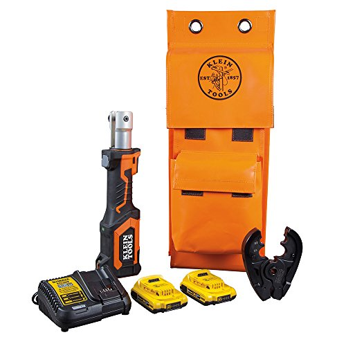 Klein Tools BAT207T1 Crimping Tool, Cable Crimper with BG Fixed Die and D3 Groove Head, Runs on 2 Ah DeWALT 20V…