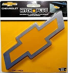 Plasticolor 002207R01 Chevy Bowtie Style Brushed Aluminum Hitch Plug
