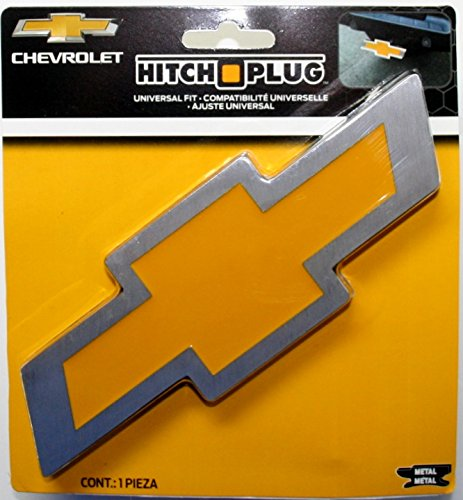 Plasticolor Chevy Bowtie Style Brushed Aluminum Hitch Plug ()
