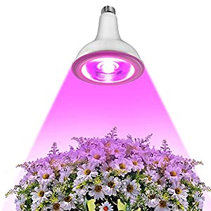 [40 LED] InaRock SuperMix 25W Plant Grow Lights E27 Growing Bulbs with Full Spectrum 3 Wavelengths tailored Integration in the High-tech Chip for Garden Greenhouse, Hydroponic and Family Balcony