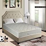 Continental Sleep Assembled Orthopedic Low Profile Mattress, Off-White, Twin Size