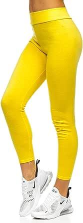 BOLF Mujer Leggings Lisos Mallas largas Jogger Pantalones Deportivos Leggings Pilates Fitness Entrenamiento Slim Fit Estilo Deportivo Mix F6F