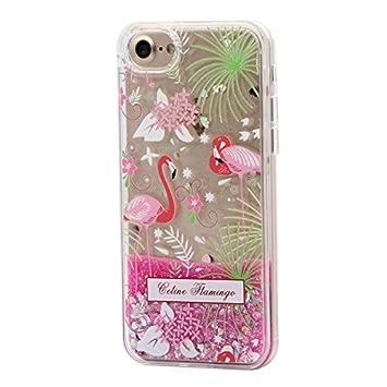 Keyihan iPhone 6 Plus / 6S Plus Funda Carcasa para niña Linda Estilo Rosa Diseño Creativo Líquido Fluido Arena movediza Parachoques Duro con Borde ...