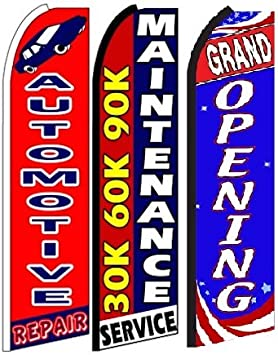 Brake Service King Swooper Feather Flag Sign Pack of 15 Hardware not Included