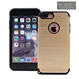 iPhone 8 Plus & iPhone 7 Plus Case, Hybrid Combo Phone Cover for Apple iPhone, New Arrival for iphone7/8 Plus Armor Case by DOKDO (Gold)