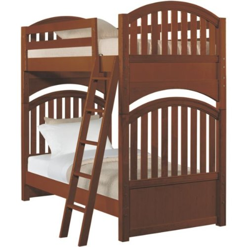 Amazon Stanley twin Bunk Bed classic Cherry Home And