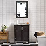 AECOJOY 24 Inches Bathroom Cabinet with