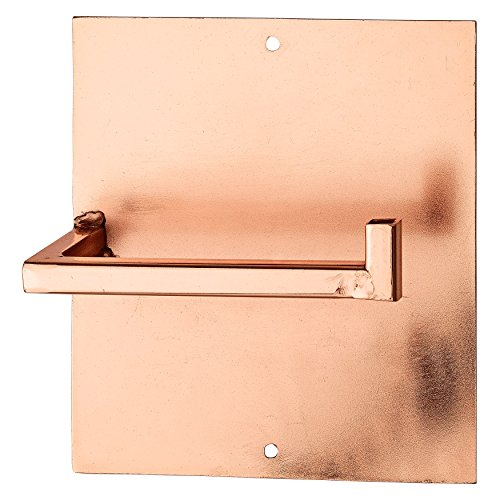 Square Metal Toilet Paper Holder with Copper Finish
