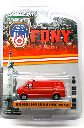 1976 DODGE B-100 HAZ-MAT OPERATIONS VAN - 2015 Greenlight Collectibles City of New York Fire Department 1:64 Scale Limited Edition Die-Cast Vehicle